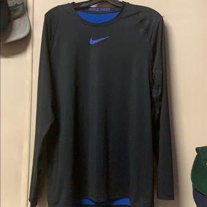 Mens Nike Pro Medium LS Athletics Shirt